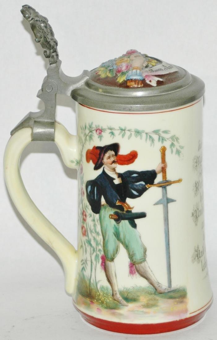 Cavalier Woman & Falcon Stein w Ludwig Litho - 2