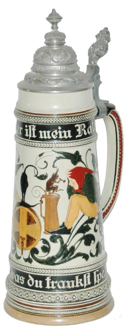 2L Etched Dwarfs Drinking Stein