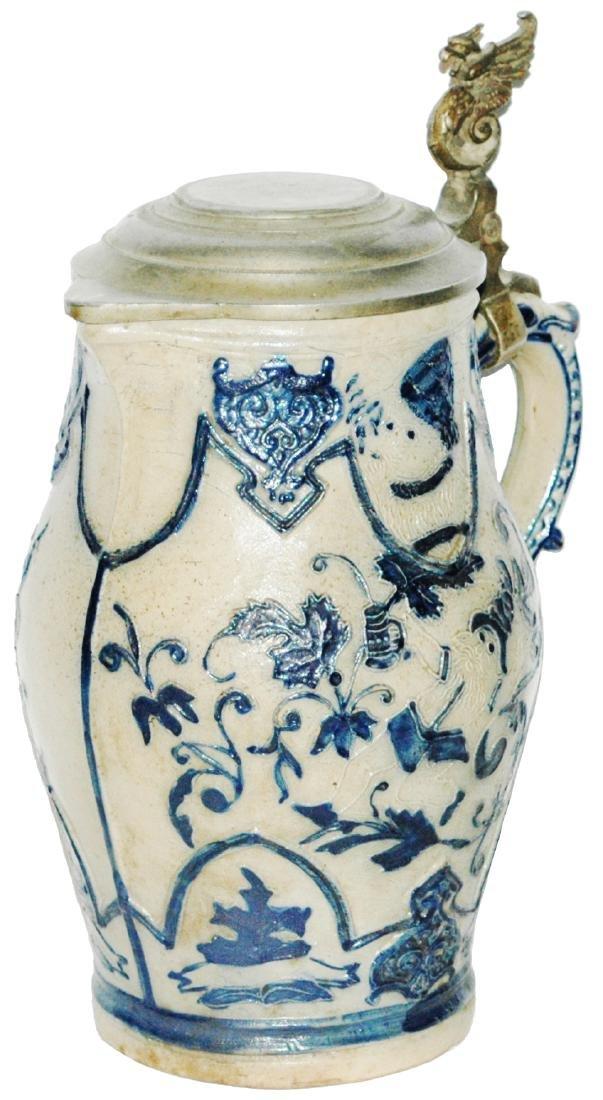 Stoneware Whites Utica 1-1/2L Dwarf & Floral Stein
