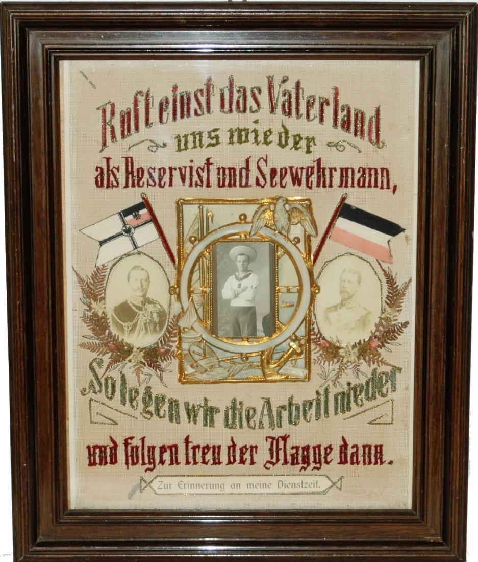 Regimental Certificate Embroidered Sailor