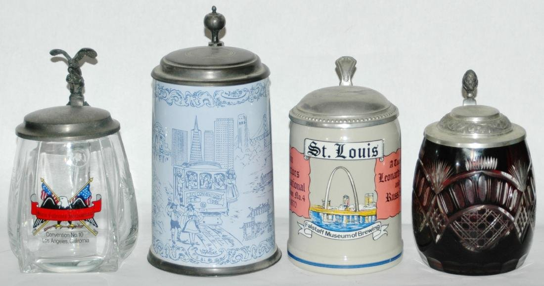 Lot of 4 SCI Convention Steins 1970 1976 1978 1992