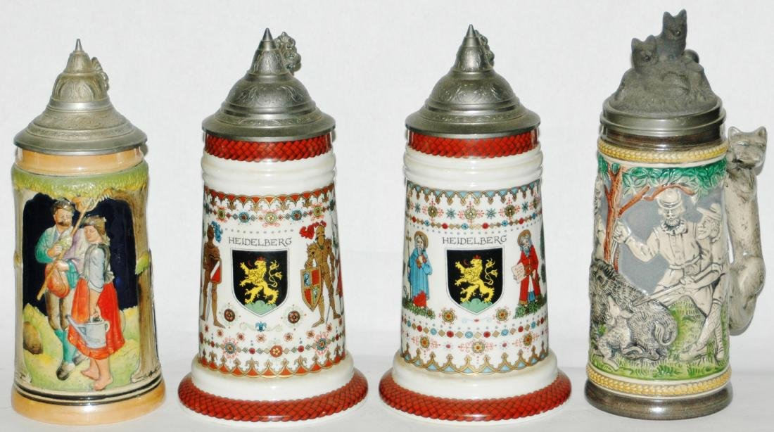 Lot of 4 Steins