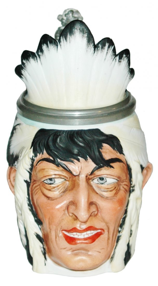 Bohne Indian Character Stein