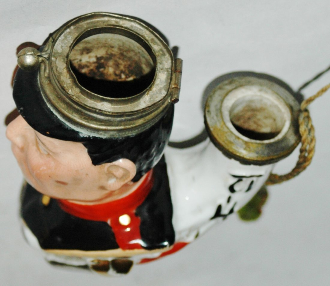 Porcelain Character Pipe of Japanese Soldier - 3