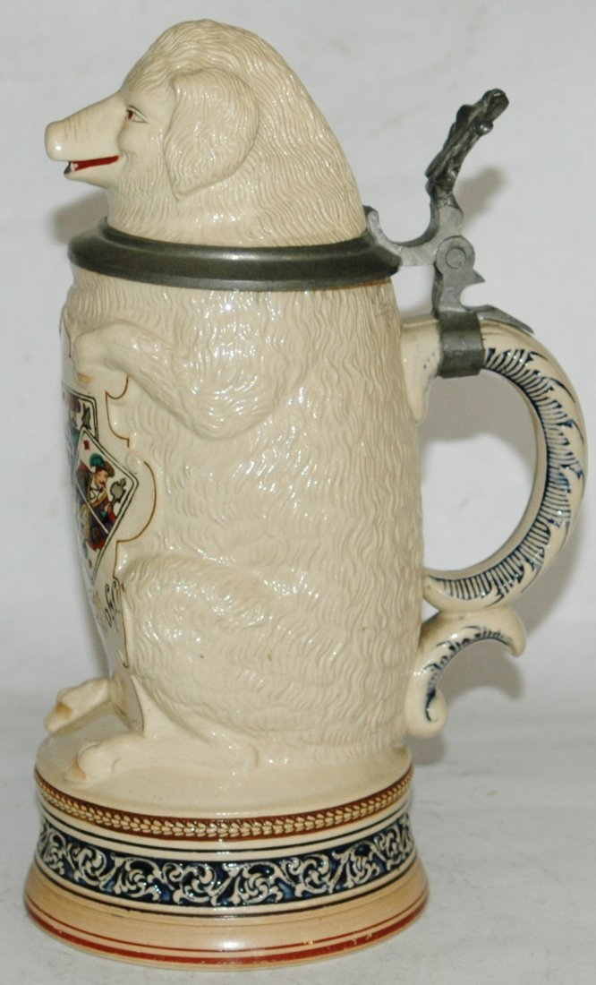 Pig with Playing Cards Character Stein - 3