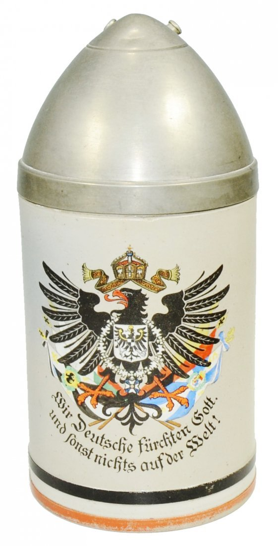 Artillery Shell w Imperial eagle Character Stein