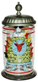 1L Franconian Dated 1796 Enameled Glass Stein