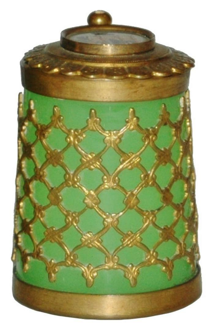 Mini Glass w Brass Overlay Stein w Berlin Inlay