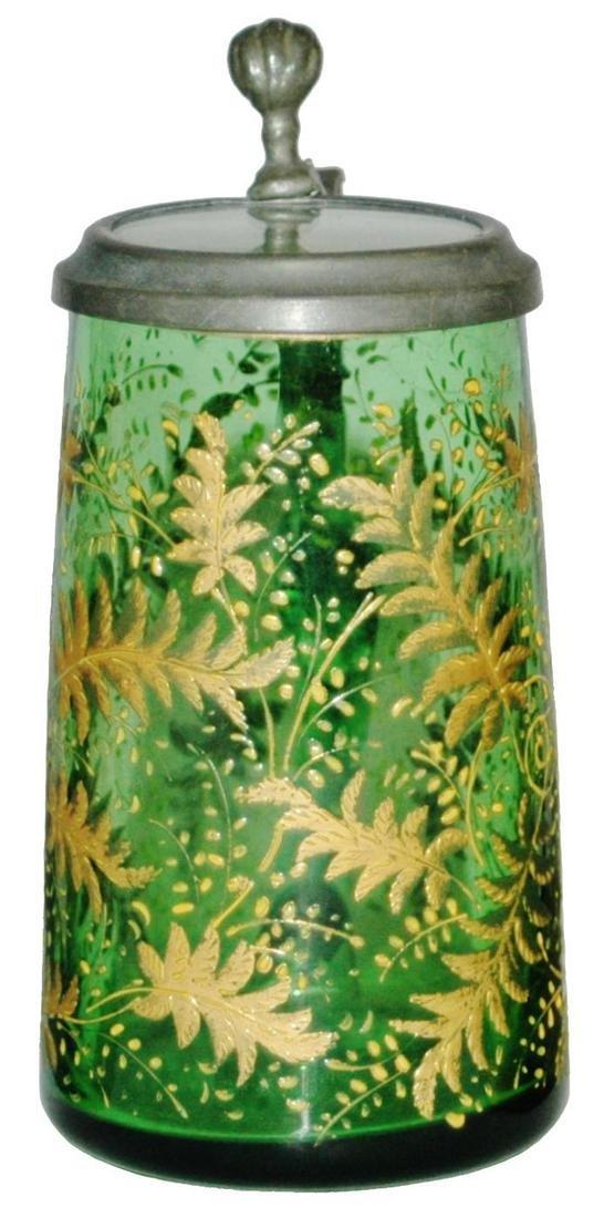 Moser 1/16L Fern Design Glass Stein & Inlay