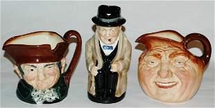 Group of three Royal Doulton Toby Jugs