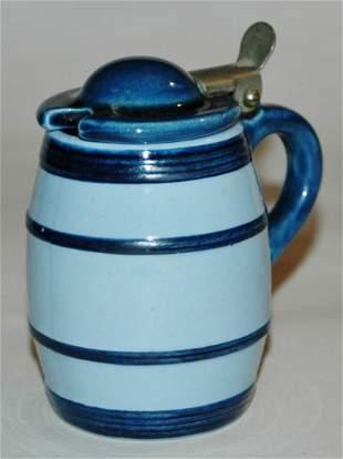 Mettlach 3010 Barrel 18L mini Stein Mustard Pot