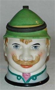 Bavarian man character stein 1/2L porcelain