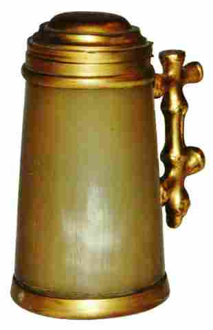 Horn 18L Mini Stein w Brass Lid Handle