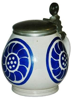 Art Nouveau Hohlwein Reinemann Stoneware Stein