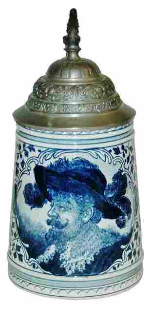 Royal Bonn Delft Blue Cavalier Stein
