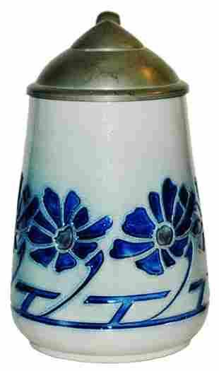 Art Nouveau Floral Stoneware Stein