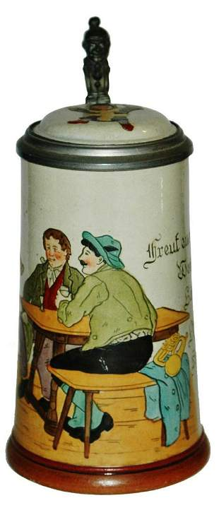 Musician Girl Marzi Remy Etched Stein w Inlay