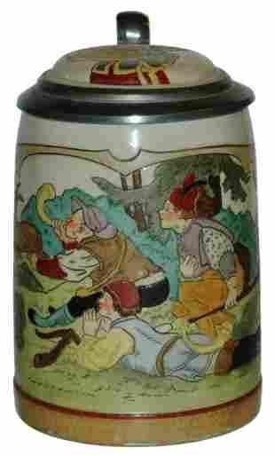 Stag Hunters Etched Marzi Remy Stein w Inlay