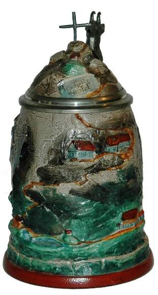 Zugspitz Mountain Stoneware Character Stein