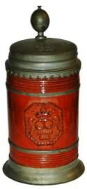 Rare Saxon Hafnerware Occupational Stein c1720