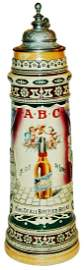 RARE 3L ABC Brewing of St Louis Adv Brewery Stein