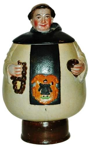 Very Rare Saeltzer Stoneware Monk Character Stein