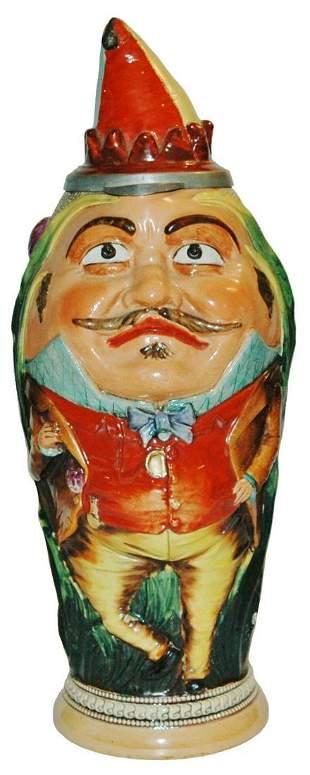 Rare Size 2L Diesinger Jester Character Stein