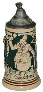 3 Panels 1/8L Stein of Cat, NightWatchman & Witch