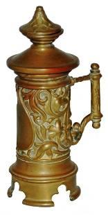 "Figural Stein Brass Table Lighter 4-3/4"""