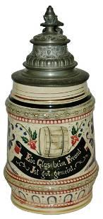 Diesinger Threaded Barrel & Verse 1/4L Stein