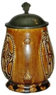 Art Nouveau Body w Knights Stoneware Stein