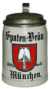 Spaten Brau Brewery Stein w Matched Logo Lid