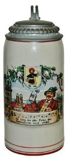 1L Munich Child & Bavarian Shield Stein & Lid