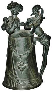 Mephistopheles & Diana Pewter Character Stein