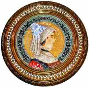Villeroy & Boch Dresden Glazed Woman Plaque