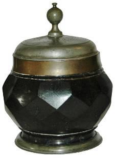 Serpentine Facet Body Stein Dated 1710