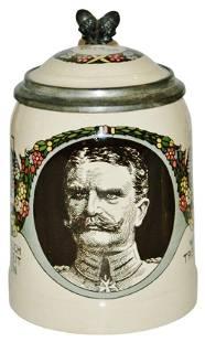 Mettlach Military Man German Austrian Stein