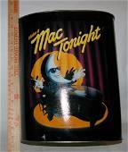 Rare 1988 MAC TONIGHT Trash Can McDonalds Ad Man