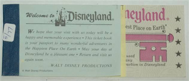 Mint Complete 5 Magic Key DISNEYLAND Ticket Book