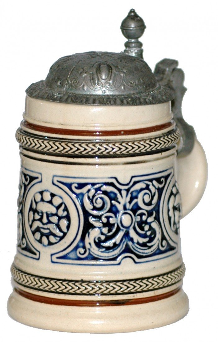 3: Pottery Relief Miniature Stein