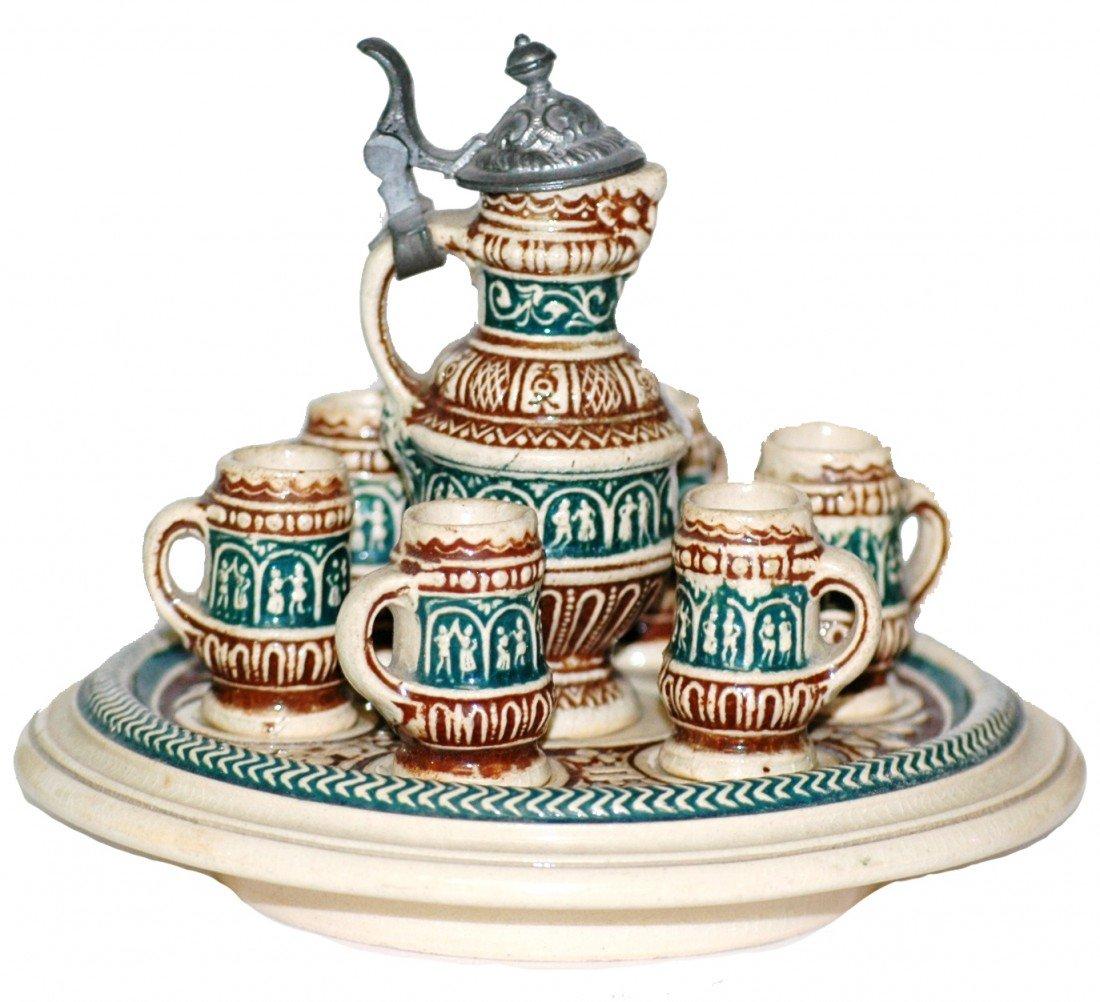 4: Pottery Relief Seven Piece Miniature Set