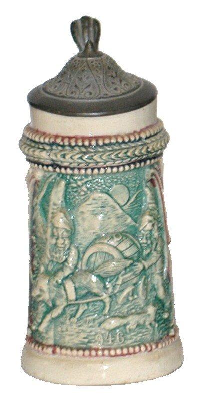 10: Pottery Diesinger Relief Miniature Stein