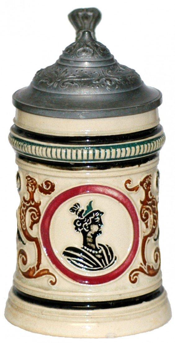 23: Pottery relief Dumler & Briden #296 Stein