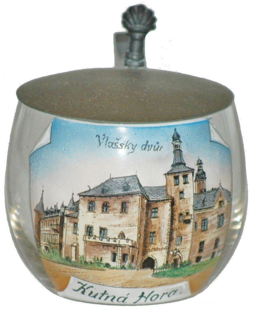 9: Blown Glass Souvenir Miniature Stein