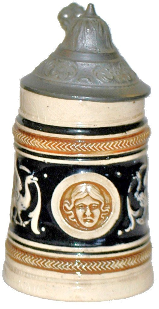 10: Pottery Relief Miniature Stein