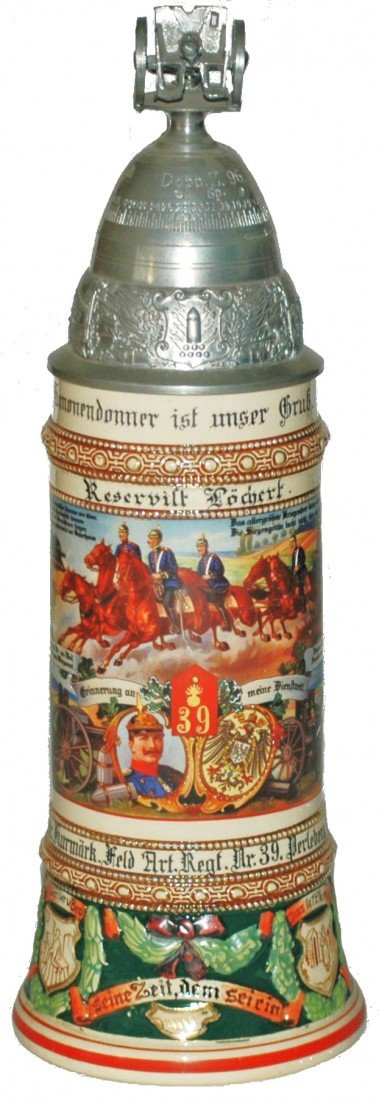 73: Regimental Pottery Stein