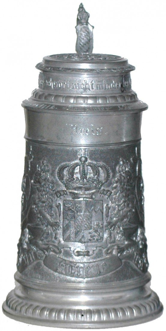87: Regimental Stein with Bavarian Lion and Shield