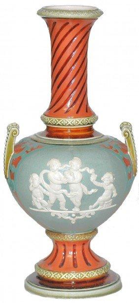 Mettlach Relief Vase