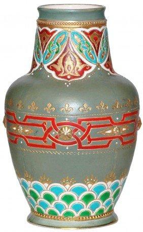 Mettlach Mosiac Vase