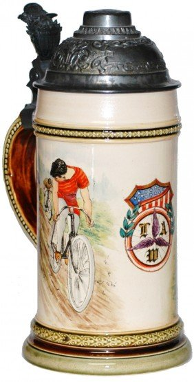 Wheelman Bicycle Mettlach Stein